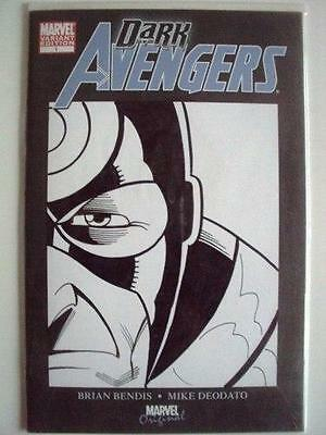 Dark Avengers #1 Df Dynamic Forces Signed Remarked Sketch Hawkeye Bullseye Coa