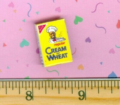Dollhouse Miniature size Modern Hot Wheat Cereal Box