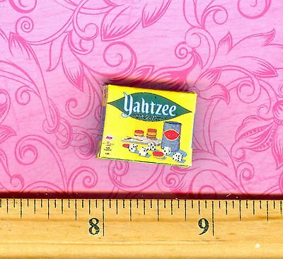 Dollhouse Miniature Size Board Game YAHTZEE Box