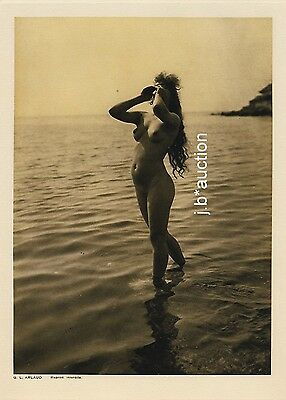 Nude Study #1 by G.L. ARLAUD France * Vintage 1920s Photogravure