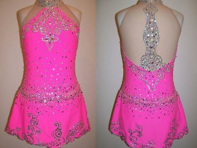 Figure Ice skating dress/Baton Twirling/Dance Costume/Tap leotard MADE TO FIT