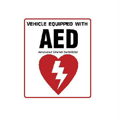 AED automated external defibrillator inside vehicle decal sticker 100-69
