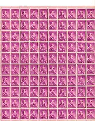 Abraham Lincoln Sheet of 100 x 4 Cent US Postage Stamps NEW