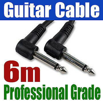"""6M ANGLE GUITAR AMP CABLE 6.35mm 1/4"""" Jack Lead 