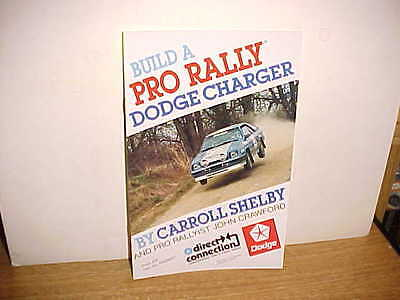 1983 Build a Pro Rally Dodge Charger by Carroll Shelby with John Crawford