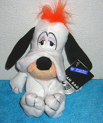 "Warner Brothers Studio Store Walter Lantz Droopy Dog 7"" Plush Bean Bag Toy"