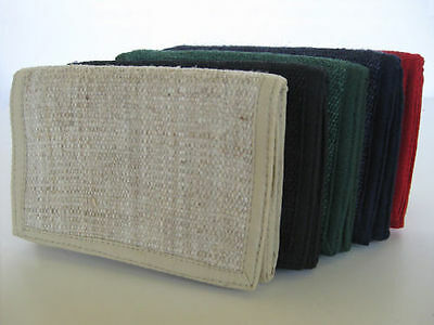 Hemp Wallet ~ Tri-fold, durable ~ choice of colors
