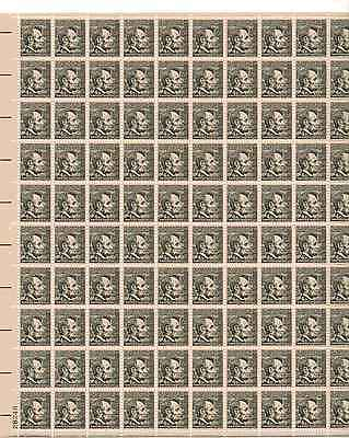Abraham Lincoln Sheet of 100 x 4 Cent US Postage Stamps NEW Scot 1282