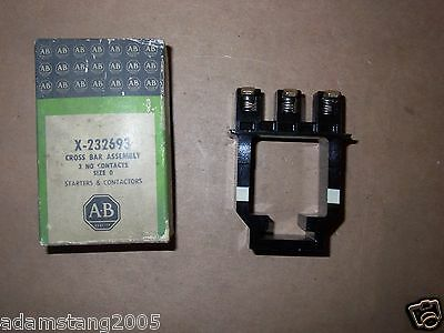 new ALLEN BRADLEY X-232693 CROSS BAR ASSEMBLY 3 N.O. CONTACTS SIZE 0