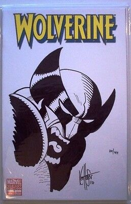 Wolverine #1 Blank Variant Df Dynamic Forces Signed Remarked Head Sketch Coa