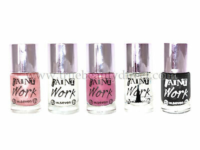 Choose A Colour W7 Paint Work Nail Varnish Polish New More Bargains In Our Shop