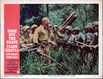 NONE BUT THE BRAVE lobby card CLINT WALKER/TOMMY SANDS orig 11x14 movie poster