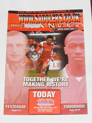 Walsall -v- Burnley  2003-2004