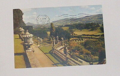 The Gardens, Powis Castle, Montgomeryshire - Old Postcard