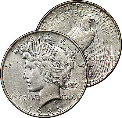 1923 Peace Dollar Silver Coin Mint State Ms Bu Uncirculated