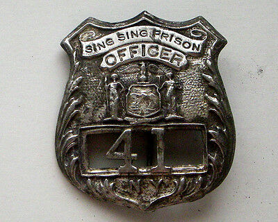 SING SING OFFICERS BADGE  WESTERN MARSHALL  SHERIFF POLICE
