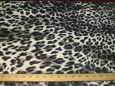 """BLACK/WHITE JUNGLE CHEETAH HEAVY 4 WAY STRETCH POLY LYCRA FABRIC  60"""" WIDE BTY"""