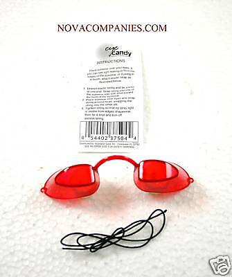 Tanning Bed Eyewear EYECANDY Goggles  protection RED