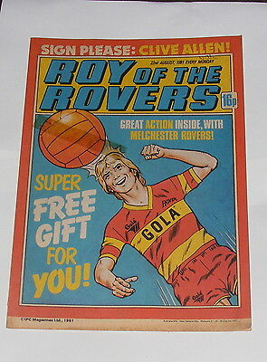 Roy Of The Rovers Comic 22Nd August 1981 Clive Allen