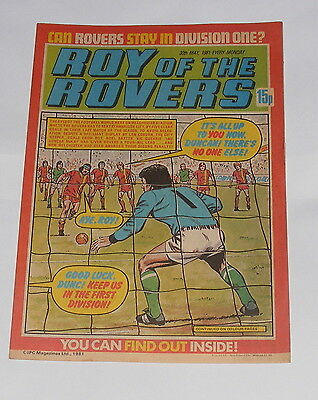 Roy Of The Rovers Comic 30Th May 1981 Clive Woods Of Norwich City