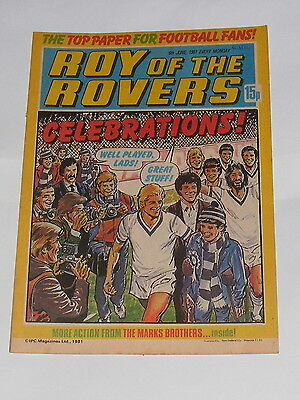 Roy Of The Rovers Comic 6Th June 1981 George Berry Of Wolverhampton Wanderers