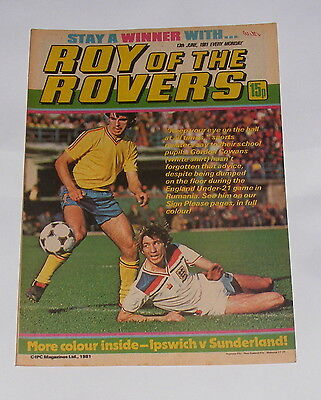 Roy Of The Rovers Comic 13Th June 1981 Gordon Cowans