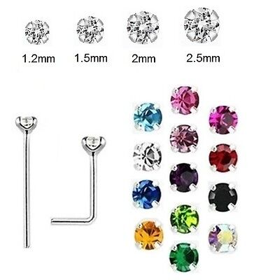CLAW SET Nose Stud 925 Silver - 0.6mm Thin BEND YOURSELF - 1.2mm 1.5mm 2mm 2.5mm