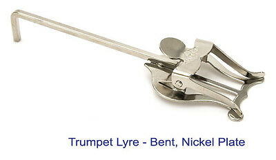 Bent Nickel Lyre Music Holder For Cornet, Trumpet, Flugel