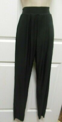 BLACK PLEATED DANCE COSTUME PANTS PULL UP poly child ladies men theater NWT
