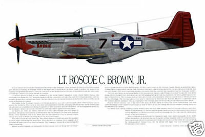 """Tuskegee Airmen Lee Archer/'s P-51 /""""Ina the Macon Belle/"""" Print by Willie Jones Jr"""