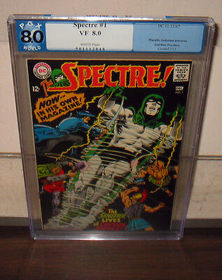 """1967 Dc """"spectre"""" #1 Pgx Graded 8.0/vf    White Pages    Free Shipping"""
