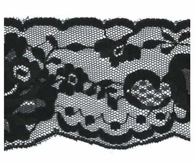 55mm Black Lace Edging