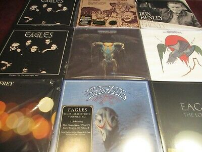 Eagles On The Border & One These Nights Uk Pressed+Hits + Solo Henley Frey Walsh