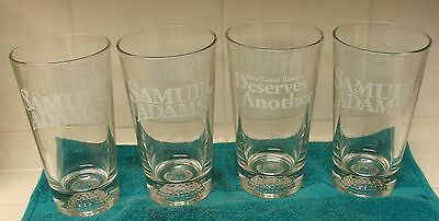 """SAMUEL ADAMS GOLF ONE GOOD ROUND DESERVES ANOTHER 6"""" SET OF 4 BEER GLASSES NEW"""