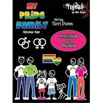 Gay Family Auto & Window Decals My Pride Family 21 Decal Set