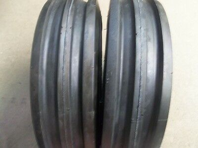 TWO 350X6,350-6, 3.50X6,3.50-6 FRONT 3 RIB Cub Cadet Easy Steer Tires with Tubes