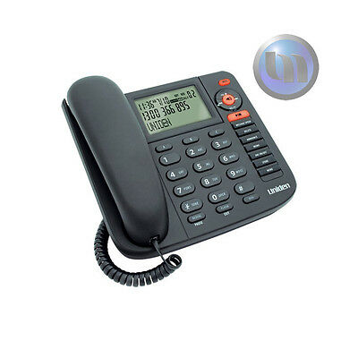 NEW Uniden Corded Phone FP1355 Digital Answering Machine Black Wall Mountable