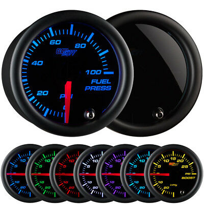 52mm GlowShift Tinted 7 Color 100 PSI Fuel Pressure Gauge - GS-T711