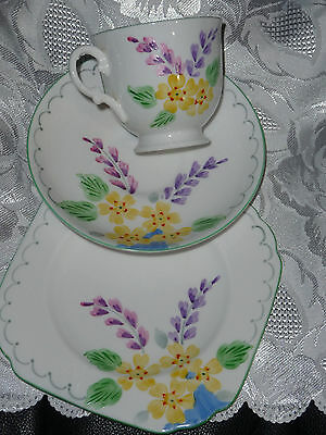 Tuscan  China , Plant  ,redg Numb 771590 Cup Saucer And Butter Plate