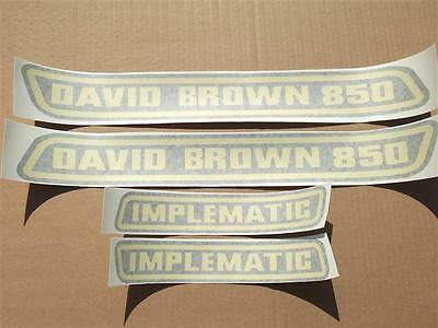 David Brown 850-950-880-990  Old Style Hood And Implematic Decals. C-Detail