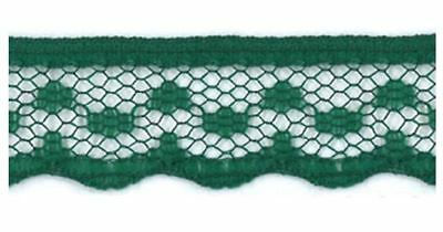 15mm Bottle Green Lace