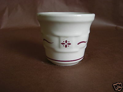 Longaberger Woven Traditions Red Votive Candleholder Embossed Weave USA made