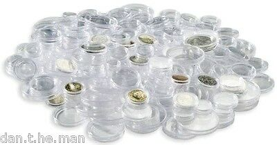 14mm TO 41mm COIN CAPSULES AVAILABLE IN 25's, 50's, 100's - CHOOSE SIZE & AMOUNT