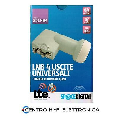Lnb Twin Space Digital 4 Uscite Indipendenti Sdlnb4