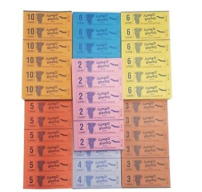 Bingo Books 1-90 Jumbo Branded Choose 6 Or 12 To View 750 or 1500 Packs