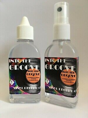 VINYL  RECORD CLEANER 'INTO THE GROOVE' Cleaning Fluid 100ml  2x 50ml Bottles