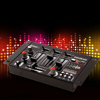 DJ Mixer 4-Kanal PA Party Disco Stereo Mischpult USB MP3 Ibiza Sound DJ-21USB