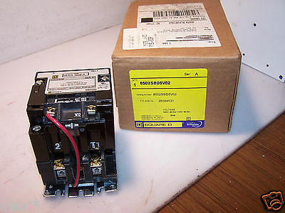 New Square D Size 0 Contactor 120 Vac Coil 1 Phase 8502Sbo5