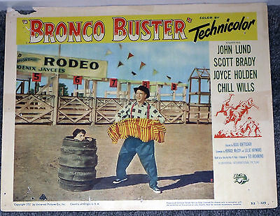 BRONCO BUSTER original RODEO CLOWN 1952 lobby card movie poster PHOENIX JAYCEES