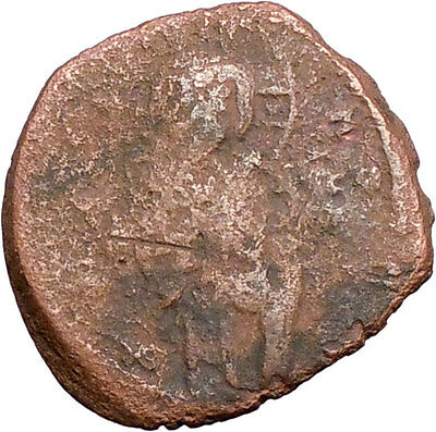 JESUS CHRIST Class C Anonymous Ancient 1034AD Byzantine Follis Coin   i27559